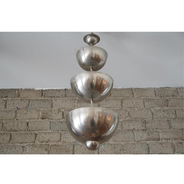 Modernist Graduated Dome Pendant For Sale In Los Angeles - Image 6 of 6
