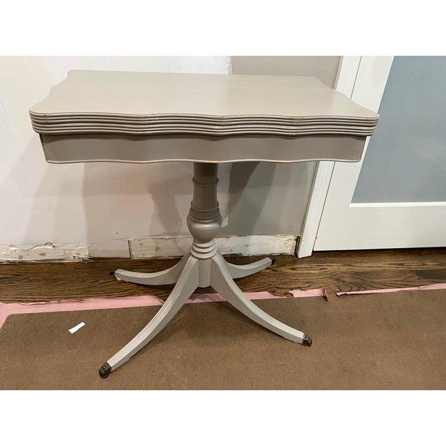Vintage Traditional Flip Top Pedestal Table For Sale - Image 12 of 13