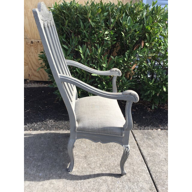 Light Gray 19th Century Louis Philippe French Arm Chair For Sale - Image 8 of 10