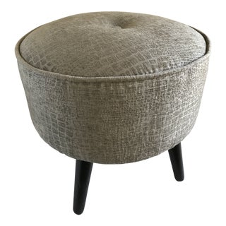 Boho Chic Style Round Tufted Foot Stool