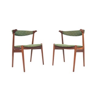 Pair of Danish Modern Teak Armchairs For Sale