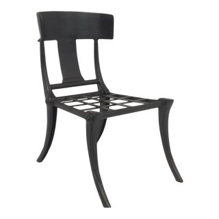 Klismos Black Outdoor Chair For Sale