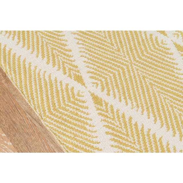 """Contemporary Erin Gates by Momeni River Beacon Citron Indoor Outdoor Hand Woven Area Rug - 5' X 7'6"""" For Sale - Image 3 of 7"""