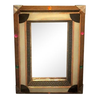 Art Deco Moroccan Style Lighted Vanity / Wall Mirror For Sale