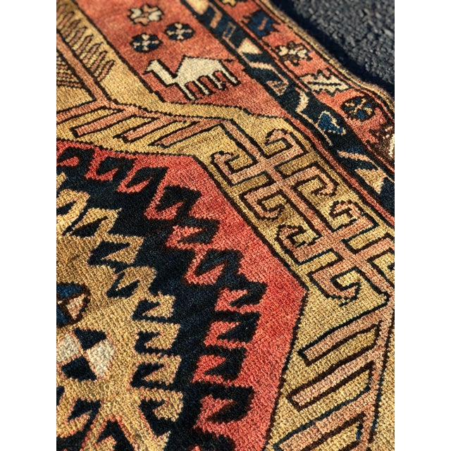 Brick Red 1950s Vintage Persian Sarab Runner Rug - 3′1″ × 10′2″ For Sale - Image 8 of 13