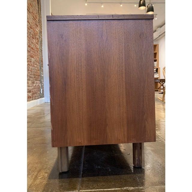 Wood Mid Century Modern - Custom 1960's Burl Wood Dresser For Sale - Image 7 of 11