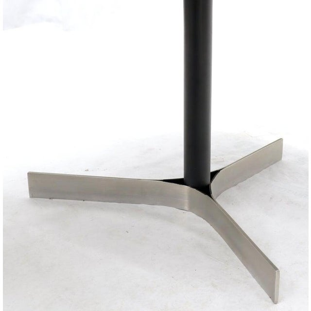Metal Aluminum Inlay Walnut Top Tri Legged Side End Table For Sale - Image 7 of 12