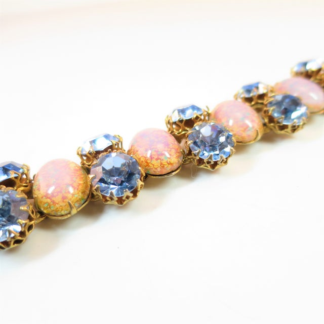 Mid-Century Modern Schiaparelli Opal Art Glass Bracelet Suite 1950s For Sale - Image 3 of 13