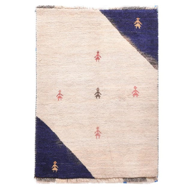 1960s 1960s Persian Gabbeh Rug-2′7″ × 3′9″ For Sale - Image 5 of 5
