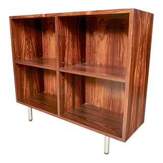 1960s Rosewood Bookcase W/ Chrome Legs For Sale
