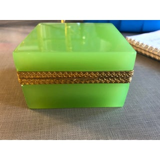 Mid-Century Modern Murano Glass Apple Green Casket Preview