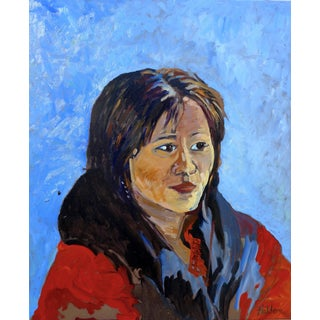 Contemporary Portrait Oil Painting For Sale