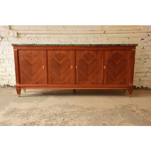 1940s 1940's French Mahogany & Marble Sideboard For Sale - Image 5 of 11