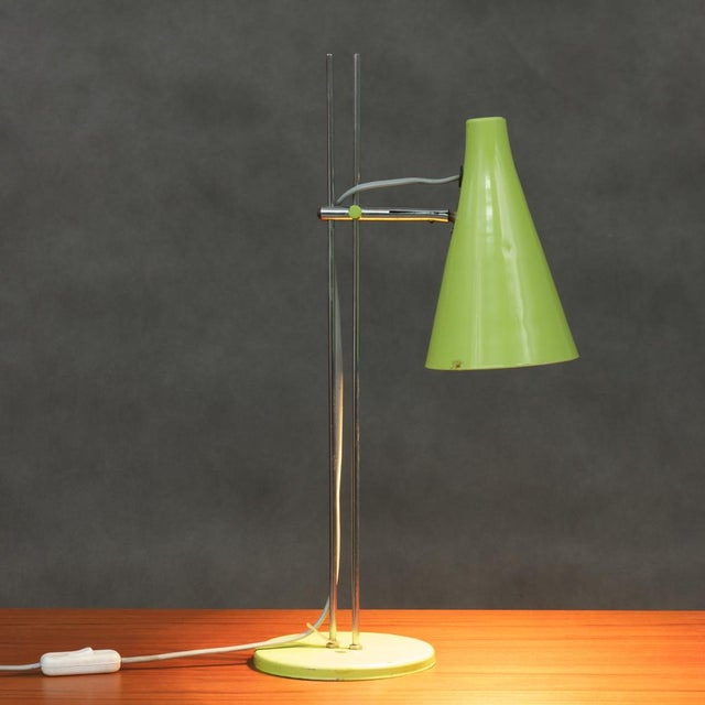 Josef Hurka Josef Hurka Lidokov L194 Green Desk Lamp For Sale - Image 4 of 8