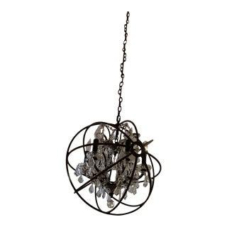 Restoration Hardware Foucault's Orb Crystal Chandelier For Sale