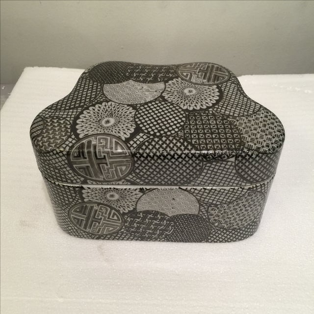 Ceramic Modern Graphic Pattern Box - Image 4 of 5