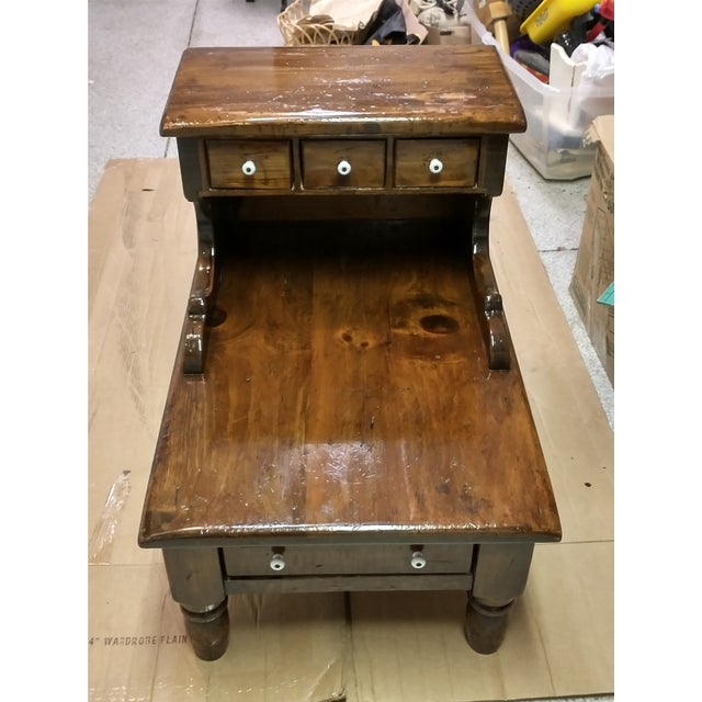 1960s 1960s Sugar Pine Step End Table For Sale - Image 5 of 5