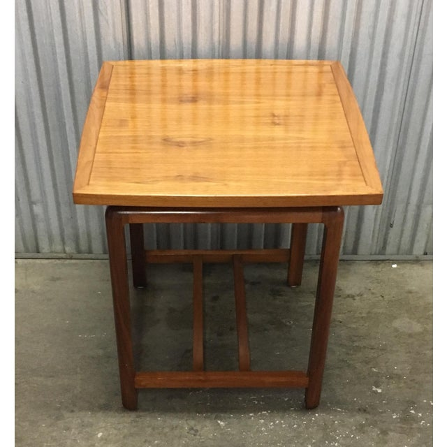 Risom Style Floating Top Side Table For Sale - Image 9 of 10