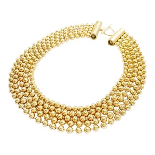 Multi-Strand Bead Pearls Pendant by Dior For Sale