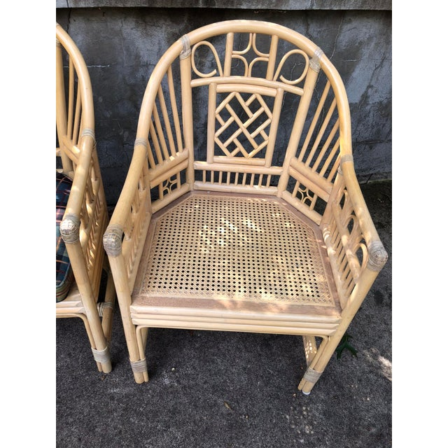 Chinoiserie Brighton Pavilion Style Bamboo armChairs- a Pair For Sale - Image 3 of 7
