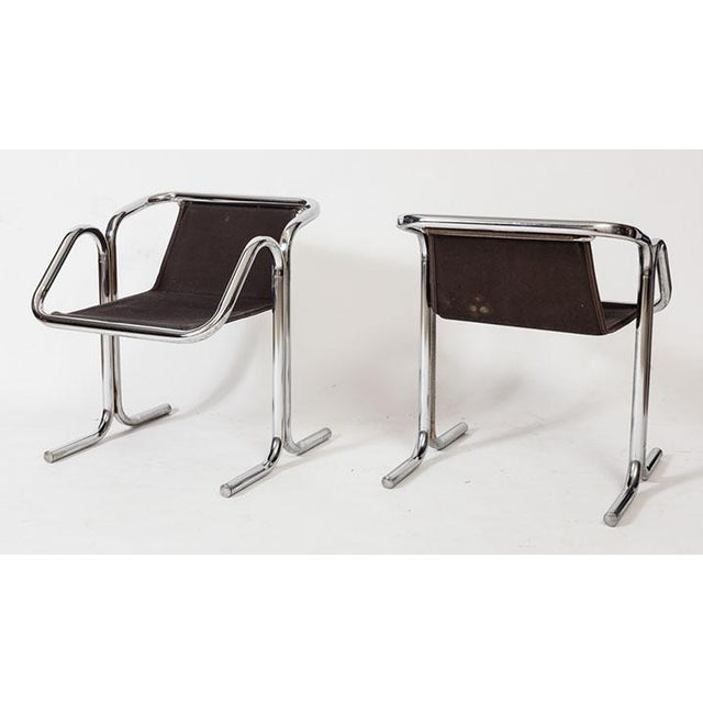 Art Deco Jerry Johnson Tubular Chrome Dining Chairs - Set of 8 For Sale - Image 3 of 7
