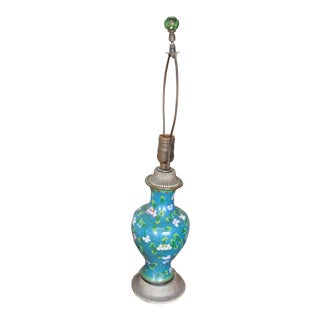 Mid 19th Century Cloisonne Lamp For Sale