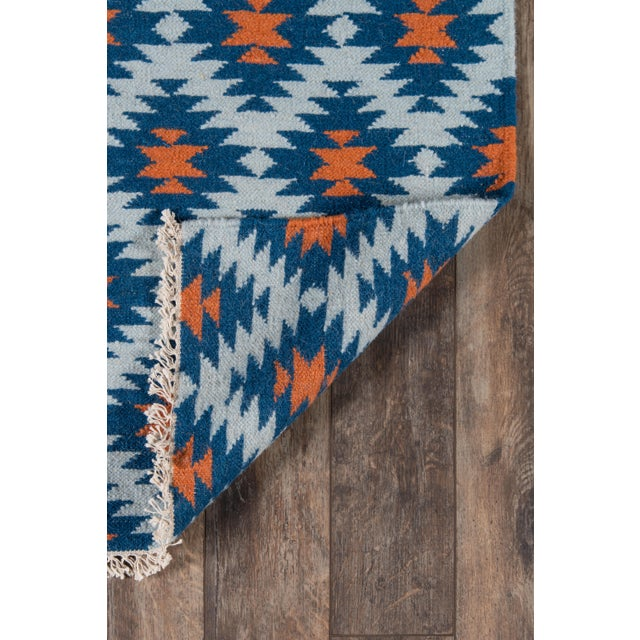 "Contemporary Erin Gates Thompson Newbury Navy Hand Woven Wool Area Rug 3'6"" X 5'6"" For Sale - Image 3 of 5"