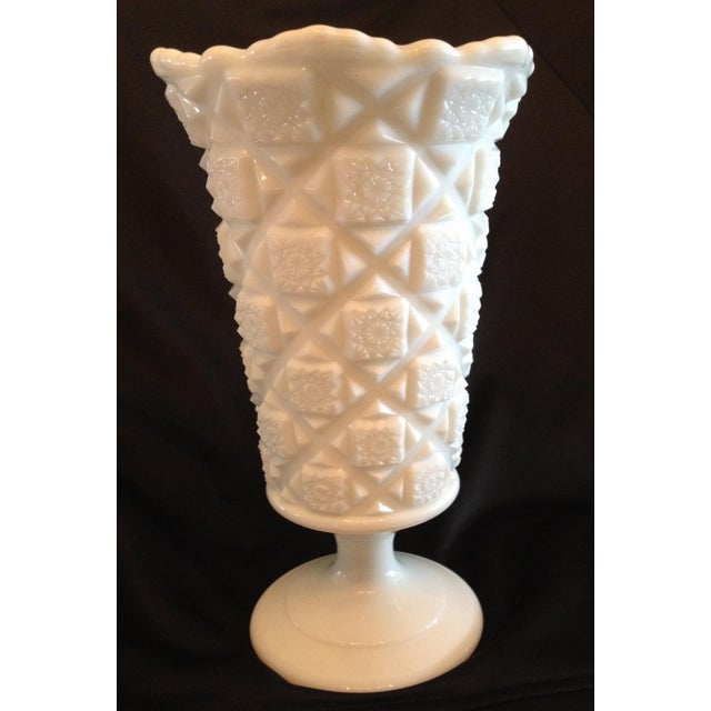 """Traditional Westmoreland Milk Glass 9 1/4"""" Footed Vase - Image 2 of 5"""