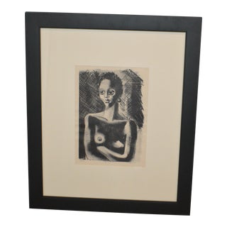 Clement Bernard Haupers African American Woman Signed Ed Lithograph For Sale