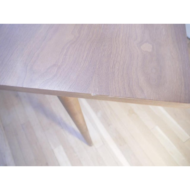 Brown Mid-Century Wooden Dining Table For Sale - Image 8 of 9