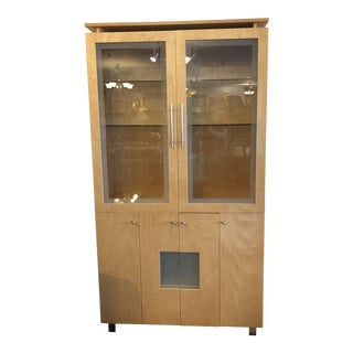 Custom Filamento Birch Display China Cabinet