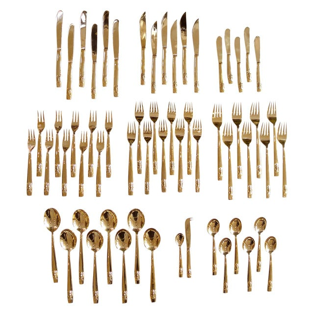 Bronze Flatware Set With Elephant Head Design For Sale - Image 4 of 4
