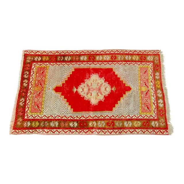 """Antique Turkish Prayer Rug - 3'2"""" x 4'11"""" For Sale"""