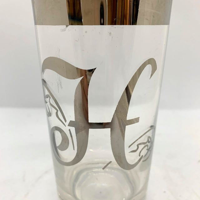 Dorothy Thorpe Mid Century Dorothy Thorpe Monogram H Highball Glasses - Set of 5 For Sale - Image 4 of 5