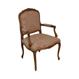 Ethan Allen French Louis XV Style Armchair For Sale