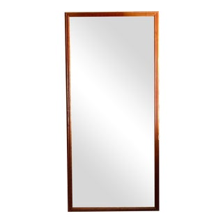 1970's Mid-Century Modern Full Length Solid Wood Mirror For Sale