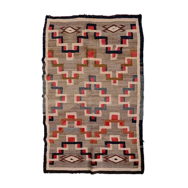 "Vintage Navajo Style Rug - 3' x 4' 10"" For Sale"