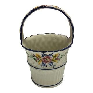 Hand Painted Ceramic Basket