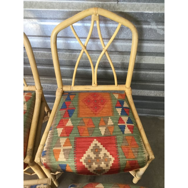 1970s Bamboo Dining Chairs, Set of 6 For Sale - Image 5 of 8