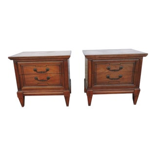 Pair of Nightstands Side End Tables by Dixie For Sale