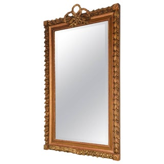 Large Mirror in Carved Giltwood Foliate Frame, French, 19th Century For Sale