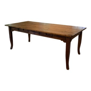1860s French Solid Pine Dining Table For Sale