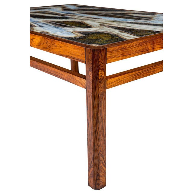 Danish Abstract Tile Coffee Table - Image 9 of 10