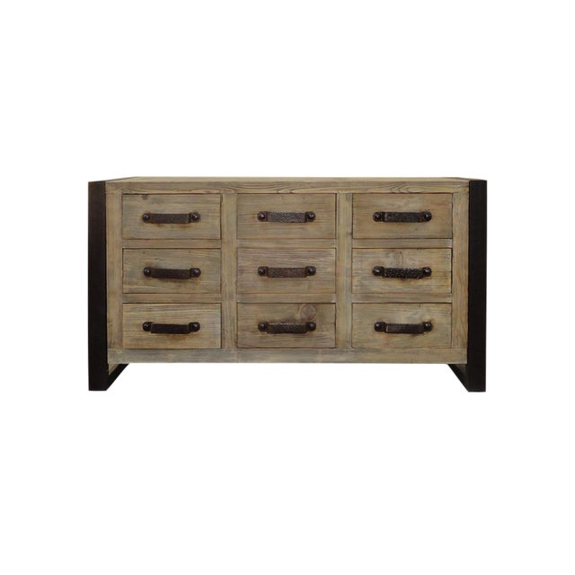 Rustic Wood & Iron Dresser Cabinet - Image 1 of 6