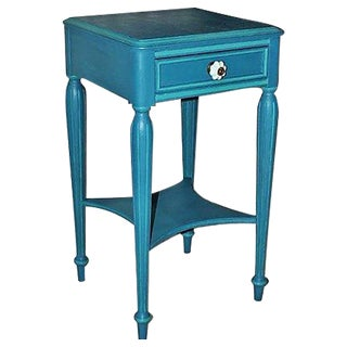 Vintage Painted Mahogany Side Table For Sale