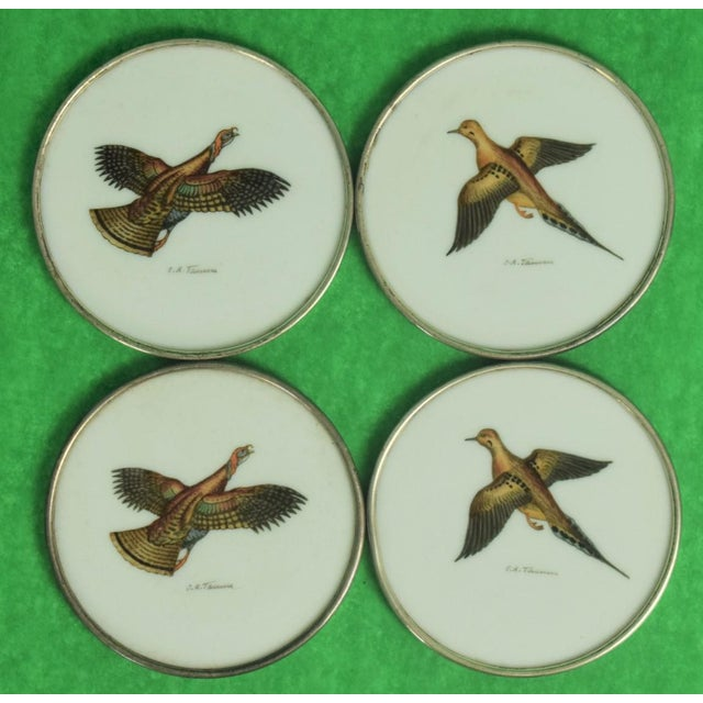 Glass 1950s Vintage Abercrombie & Fitch Game Bird Coasters - Set of 4 For Sale - Image 7 of 7