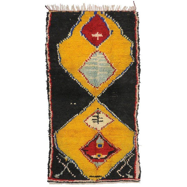 Late 20th Century Late 20th Century Vintage Berber Moroccan Rug - 4′1″ × 7′10″ For Sale - Image 5 of 5