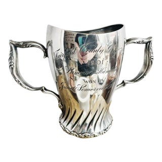 1901 Sterling Silver Womens Golf Trophy For Sale