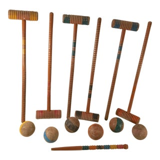 Vintage Croquet Set - Game for 6 For Sale