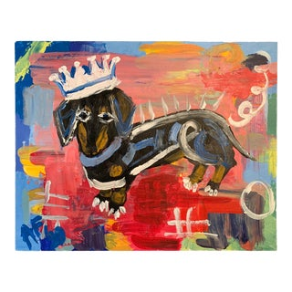 Prince Herman, Street Art Painting of a Dachshund Dog, A. Ford For Sale